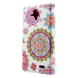 Peňaženkové puzdro pre mobil Lenovo A536 - mandala - 3