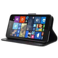 Butterfly peněženkové pouzdro na Microsoft Lumia 535 - černé - 3/7