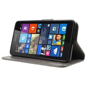 Butterfly peněženkové pouzdro na Microsoft Lumia 535 - šedé - 3