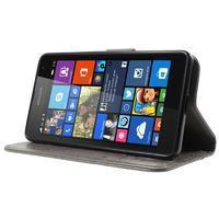 Butterfly peněženkové pouzdro na Microsoft Lumia 535 - šedé - 3/7