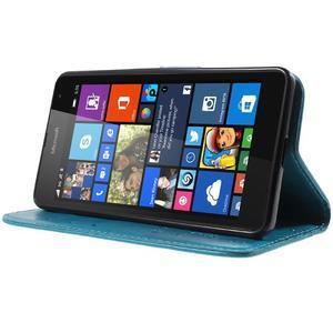 Butterfly peněženkové pouzdro na Microsoft Lumia 535 - modré - 3