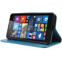 Butterfly peněženkové pouzdro na Microsoft Lumia 535 - modré - 3/7
