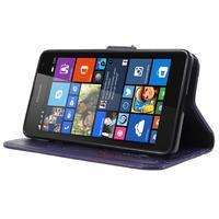 Butterfly peněženkové pouzdro na Microsoft Lumia 535 - fialové - 3/7