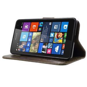 Butterfly peněženkové pouzdro na Microsoft Lumia 535 - coffee - 3