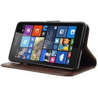 Butterfly peněženkové pouzdro na Microsoft Lumia 535 - hnědé - 3/7