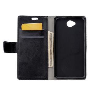 Fold peněženkové pouzdro na Microsoft Lumia 650 - černé - 3