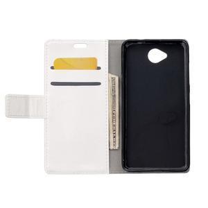 Fold peněženkové pouzdro na Microsoft Lumia 650 - bílé - 3