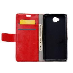 Fold peněženkové pouzdro na Microsoft Lumia 650 - červené - 3