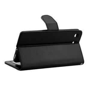 Horse PU kožené pouzdro na Sony Xperia M5 - černé - 3
