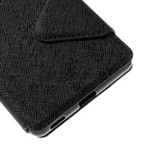 Diary pouzdro s okýnkem na Sony Xperia M5 - černé - 3