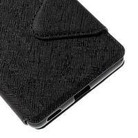 Diary pouzdro s okýnkem na Sony Xperia M5 - černé - 3/7