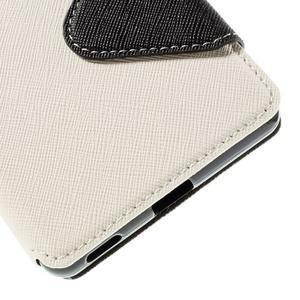Diary pouzdro s okýnkem na Sony Xperia M5 - bílé - 3