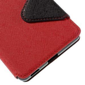 Diary pouzdro s okýnkem na Sony Xperia M5 - červené - 3
