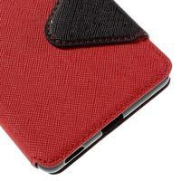 Diary pouzdro s okýnkem na Sony Xperia M5 - červené - 3/7