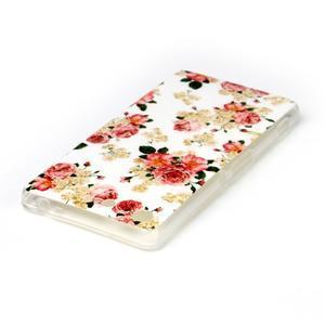 Style gelový obal pro Sony Xperia M5 - květinová koláž - 3