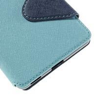 Diary pouzdro s okýnkem na Sony Xperia M5 - světlemodré - 3/7