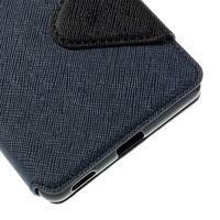 Diary pouzdro s okýnkem na Sony Xperia M5 - tmavěmodré - 3/7