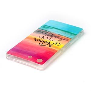 Style gelový obal pro Sony Xperia M5 - nepřestávej snít - 3