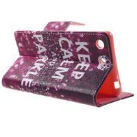 Stand peněženkové pouzdro na Sony Xperia M5 - Keep Calm - 3/7