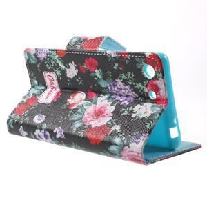 Stand peněženkové pouzdro na Sony Xperia M5 - kvetoucí růže - 3