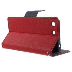 Goos PU kožené penženkové pouzdro na Sony Xperia M5 - červené - 3
