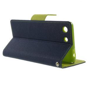 Goos PU kožené penženkové pouzdro na Sony Xperia M5 - tmavěmodré - 3