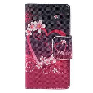 Crafty peněženkové pouzdro na Sony Xperia M5 - srdce - 3