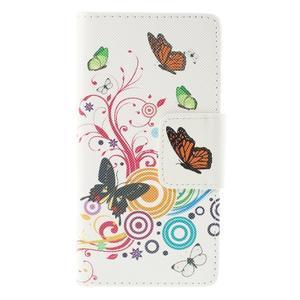 Crafty peněženkové pouzdro na Sony Xperia M5 - motýlci - 3