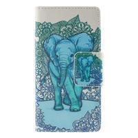 Crafty peněženkové pouzdro na Sony Xperia M5 - modrý slon - 3/7