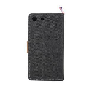 Jeans peněžnkové pouzdro na mobil Sony Xperia M5 - černé - 3