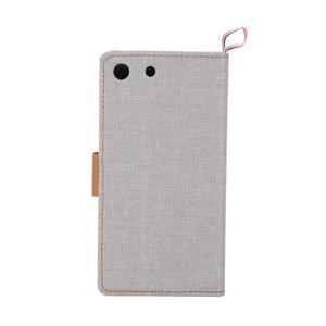Jeans peněžnkové pouzdro na mobil Sony Xperia M5 - šedé - 3
