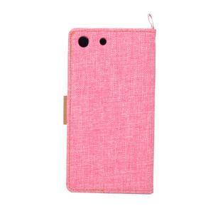 Jeans peněžnkové pouzdro na mobil Sony Xperia M5 - růžové - 3