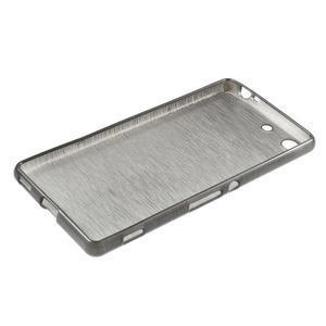 Brush gelový obal pro Sony Xperia M5 - šedý - 3