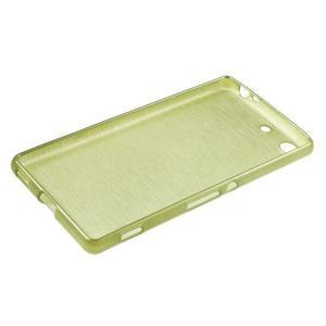 Brush gelový obal pro Sony Xperia M5 - zelený - 3