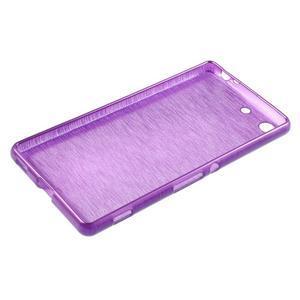 Brush gelový obal pro Sony Xperia M5 - fialový - 3