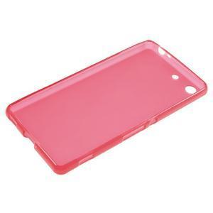 Matný gelový kryt pro Sony Xperia M5 - červený - 3