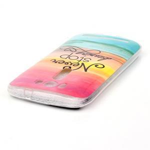 Softy gelový obal na mobil Asus Zenfone 2 Laser - nepřestávej snít - 3
