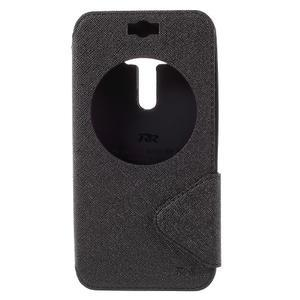 Peněženkové pouzdro s okýnkem na Asus Zenfone Selfie ZD551KL - černé - 3