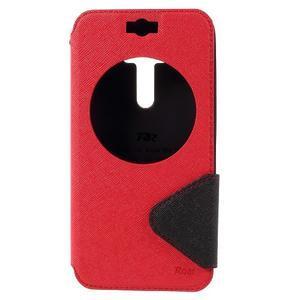 Peněženkové pouzdro s okýnkem na Asus Zenfone Selfie ZD551KL - červené - 3