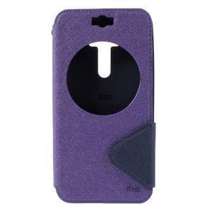 Peněženkové pouzdro s okýnkem na Asus Zenfone Selfie ZD551KL - fialové - 3