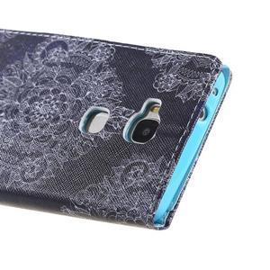 Knížkové pouzdro na mobil Honor 5X - retro krajka - 3