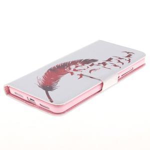 Peněženkové pouzdro pro mobil Honor 5X - ptačí peříčko - 3
