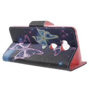 Emotive PU kožené pouzdro na mobil Honor 5X - kouzelní motýlci - 3