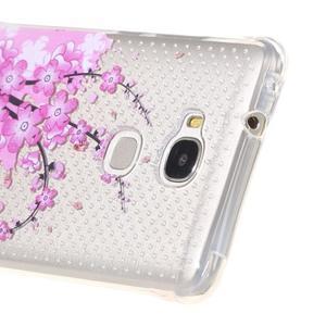 Transparentní gelový obal na Honor 5X - kvetoucí větvička - 3
