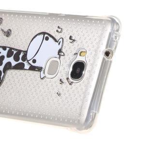 Transparentní gelový obal na Honor 5X - žirafka - 3