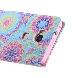 Knížkové pouzdro na mobil Honor 5X - barevná mandala - 3