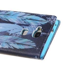 Knížkové pouzdro na mobil Honor 5X - peříčka - 3