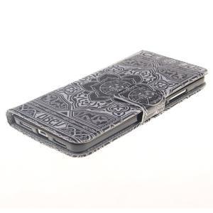 Peněženkové pouzdro pro mobil Honor 5X - retro květina - 3