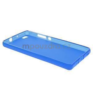 Modrý matný gelový obal pro Huawei Ascend P8 Lite - 3