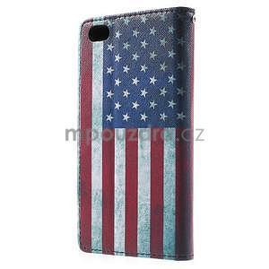Peněženkové pouzdro Style pro Huawei Ascend P8 Lite - USA vlajka - 3